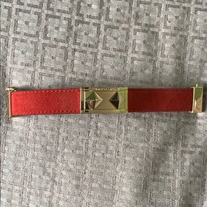 Vince Camuto Red Leather Bracelet